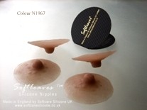 Softleaves Silicone Nipples very realistic breast nipples mand made used with breast formsor on the natural breast  or for inverted nipples